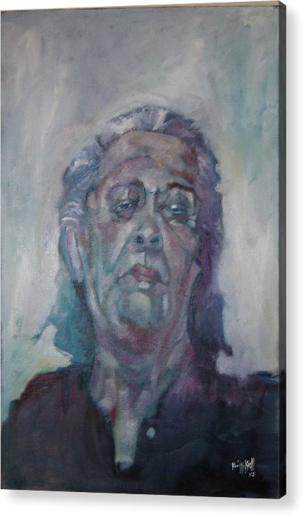Portrait Figure Acrylic Print featuring the painting Old Mary by Kevin McKrell