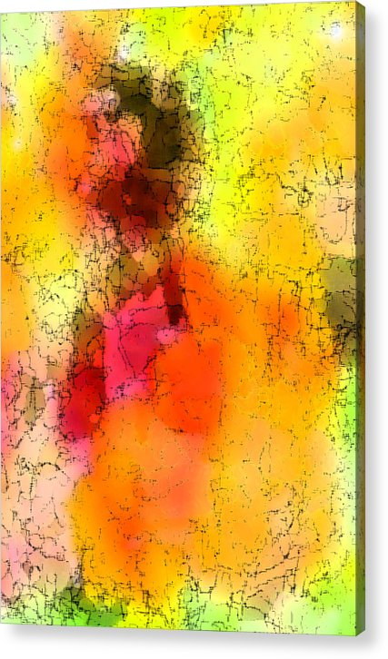 Digital Art Acrylic Print featuring the digital art Surfing The Sun by Tom Romeo