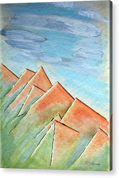 Painting Acrylic Print featuring the painting Coastal Range by J R Seymour