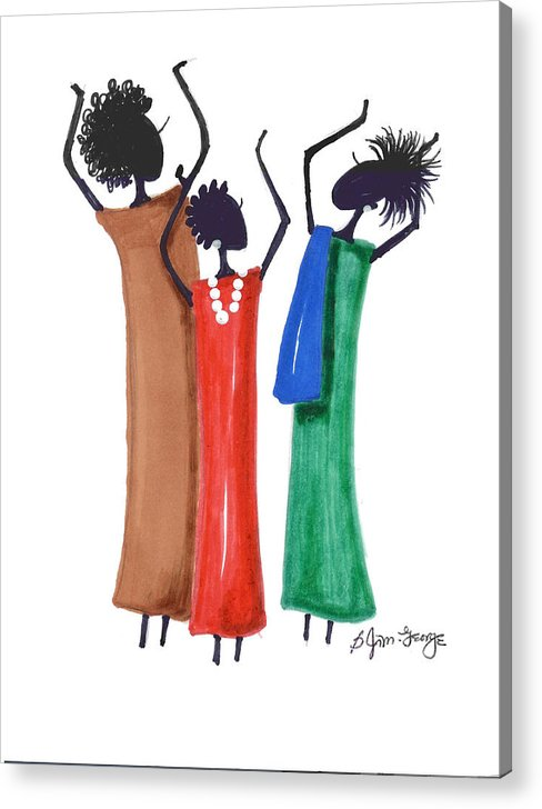 Drawing Acrylic Print featuring the drawing Hallelujah by Bee Jay