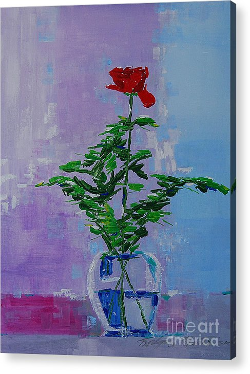 Flowers Acrylic Print featuring the painting The Gift by Art Mantia