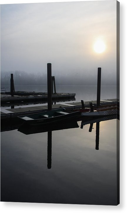 Boat Dock Sunrise Acrylic Print featuring the photograph Boat Dock Sunrise 2 by Gregory Alan