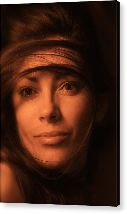 Streched Canvases Acrylic Print featuring the photograph I Love You. No.2. by Andrzej Goszcz