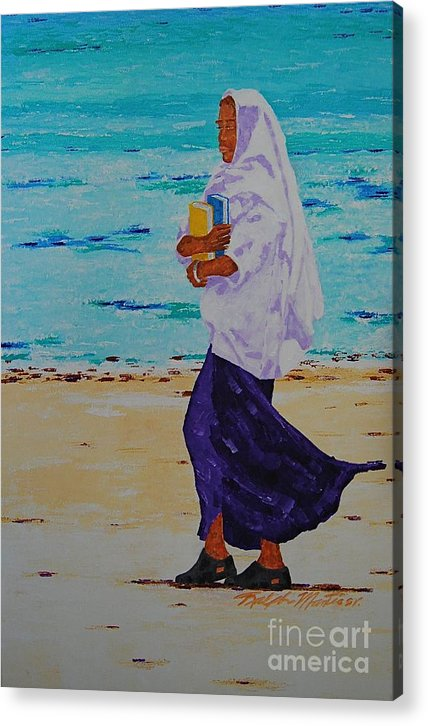 Water Acrylic Print featuring the painting Holding On To Dreams by Art Mantia