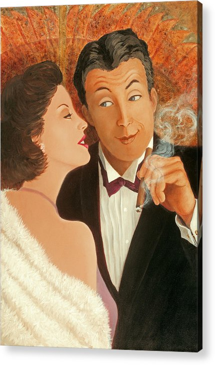 Art Deco Acrylic Print featuring the painting Sweet Talk by Susan Rinehart