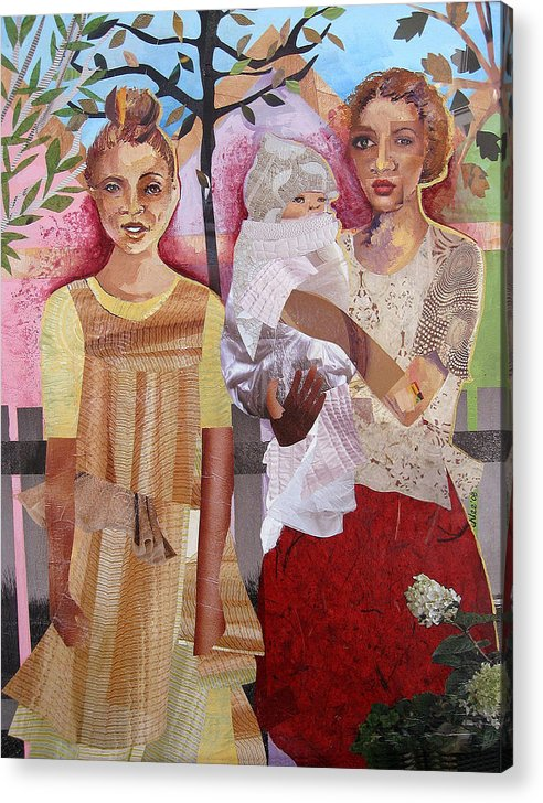 Family Acrylic Print featuring the mixed media Maude And Baby Bette by Candace Hunter