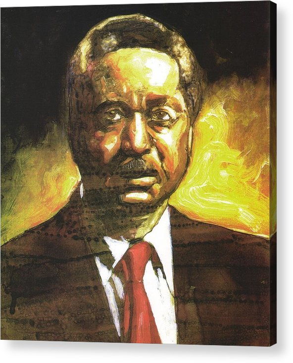Reverend Leon Sullivan Acrylic Print featuring the painting Portrait Of Rev. Leon Sullivan by Michael Facey