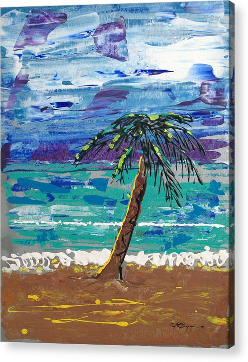 Impressionist Painting Acrylic Print featuring the painting Palm Beach by J R Seymour