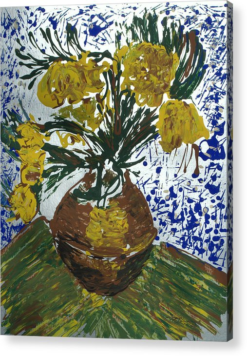 Flowers Acrylic Print featuring the painting Van Gogh by J R Seymour