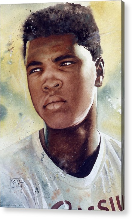 Cassius Clay Acrylic Print featuring the painting Cassius Clay by Rich Marks