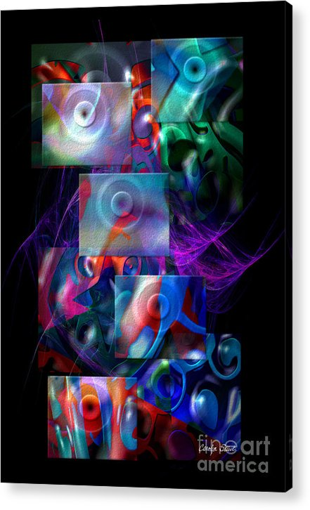 Abstract Color Abstract Realism Acrylic Print featuring the digital art Get It In Gear by Carolyn Staut
