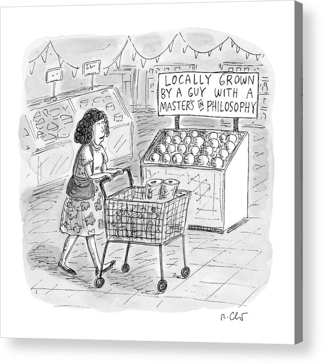 A Sign For Produce In A Grocery Store Reads by Roz Chast
