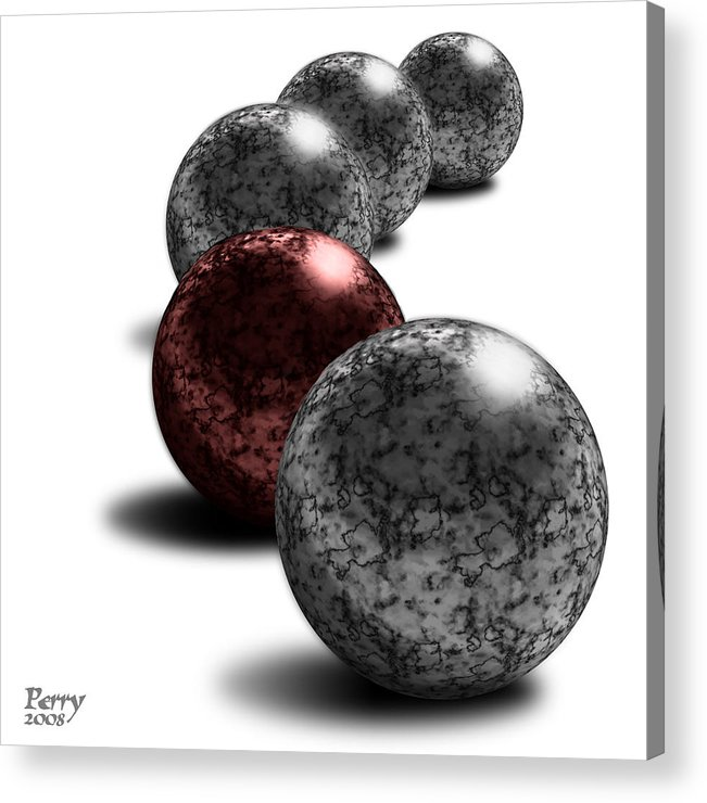 3d Acrylic Print featuring the digital art Bloodstone by Carl Perry