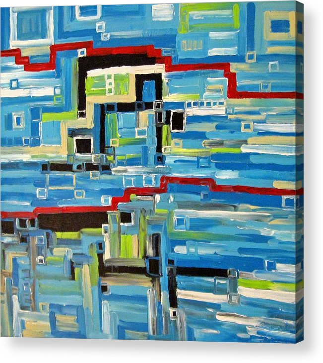 Modern Acrylic Print featuring the painting Blues by Katerina Wagner
