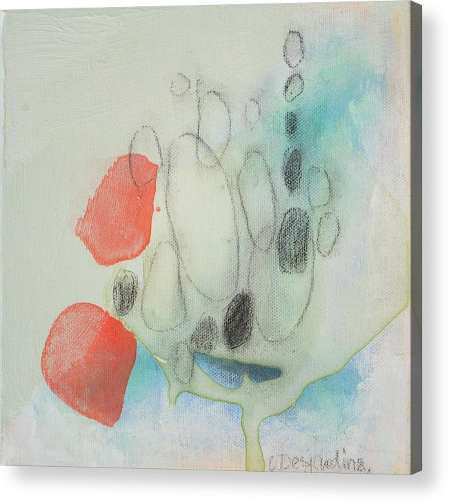 Abstract Acrylic Print featuring the painting Little Secret 05 by Claire Desjardins