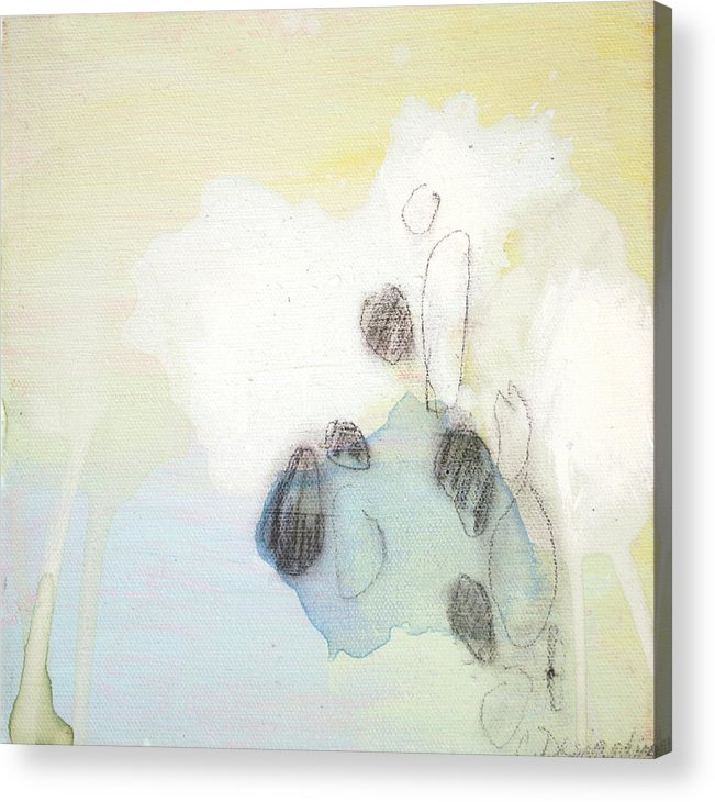 Abstract Acrylic Print featuring the painting Little Secret 10 by Claire Desjardins