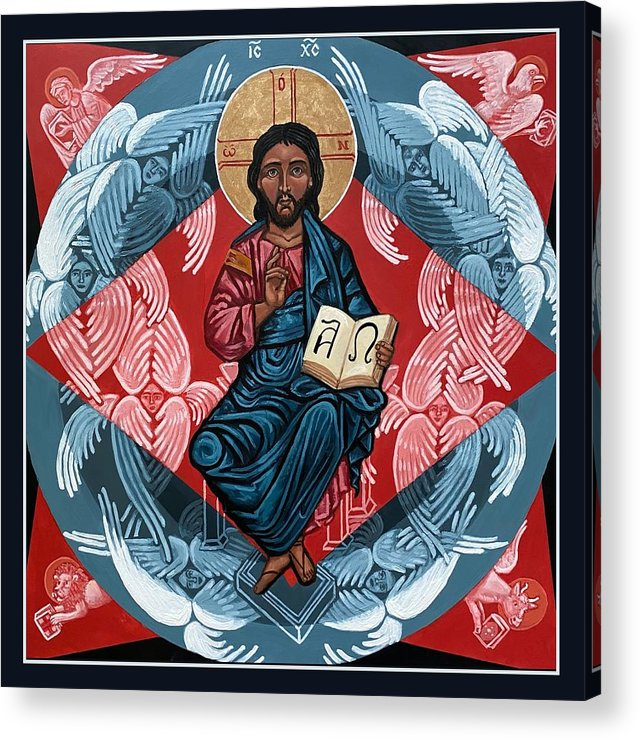 Acrylic Print featuring the painting Christ Enthroned by Kelly Latimore