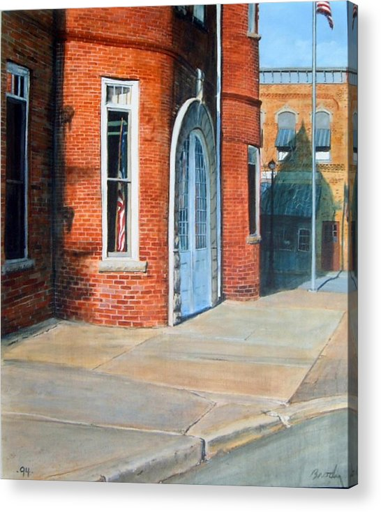 Realistic Acrylic Print featuring the painting Town Hall by William Brody