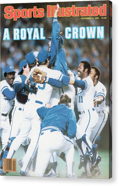 St. Louis Cardinals Acrylic Print featuring the photograph A Royal Crown 1985 World Series Sports Illustrated Cover by Sports Illustrated