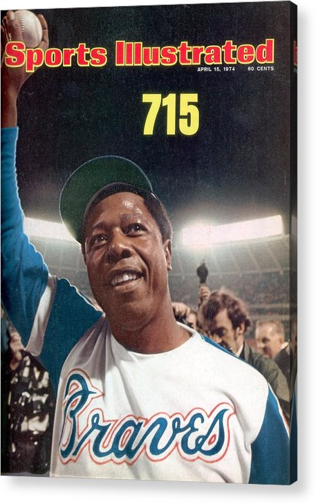 Magazine Cover Acrylic Print featuring the photograph Atlanta Braves Hank Aaron Sports Illustrated Cover by Sports Illustrated