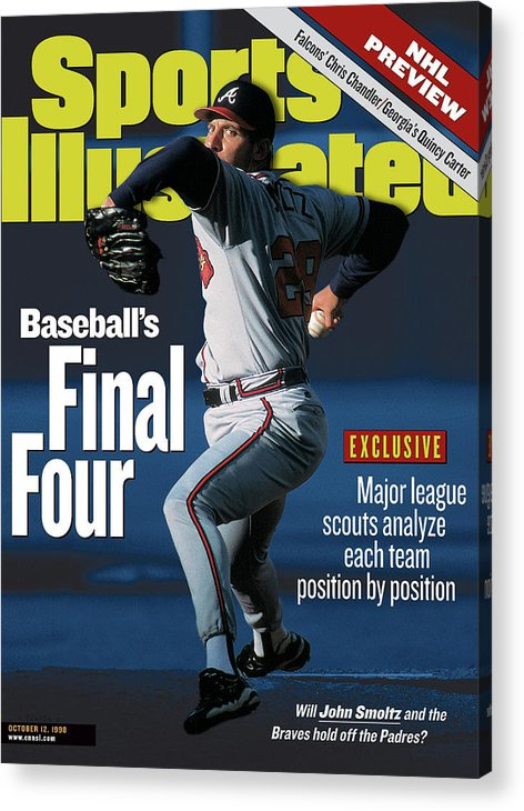 Candlestick Park Acrylic Print featuring the photograph Baseballs Final Four Will John Smoltz And The Braves Hold Sports Illustrated Cover by Sports Illustrated