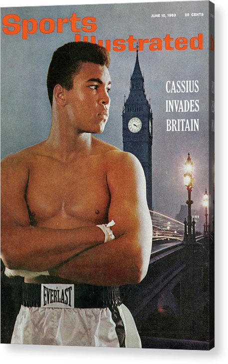 Magazine Cover Acrylic Print featuring the photograph Cassius Invades Britain Sports Illustrated Cover by Sports Illustrated