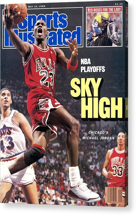 Playoffs Acrylic Print featuring the photograph Chicago Bulls Michael Jordan, 1988 Nba Eastern Conference Sports Illustrated Cover by Sports Illustrated