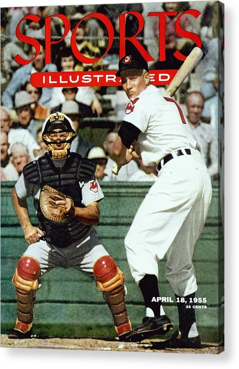 Magazine Cover Acrylic Print featuring the photograph Cleveland Indians Al Rosen... Sports Illustrated Cover by Sports Illustrated
