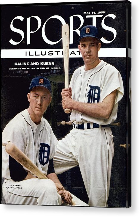 Magazine Cover Acrylic Print featuring the photograph Detroit Tigers Al Kaline And Harvey Kuenn Sports Illustrated Cover by Sports Illustrated