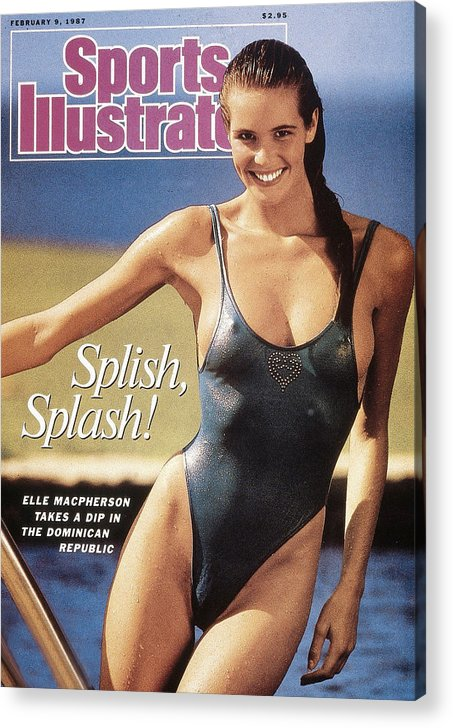1980-1989 Acrylic Print featuring the photograph Elle Macpherson Swimsuit 1987 Sports Illustrated Cover by Sports Illustrated