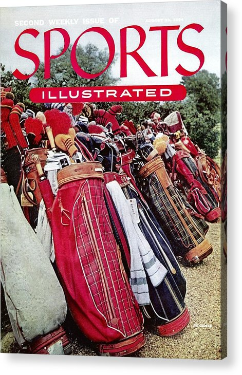 Magazine Cover Acrylic Print featuring the photograph Golf Bags, 1954 Masters Tournament Sports Illustrated Cover by Sports Illustrated