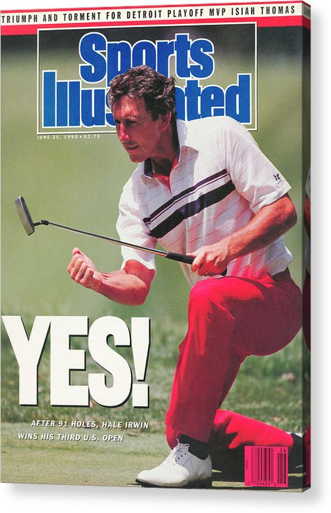 Magazine Cover Acrylic Print featuring the photograph Hale Irwin, 1990 Us Open Sports Illustrated Cover by Sports Illustrated