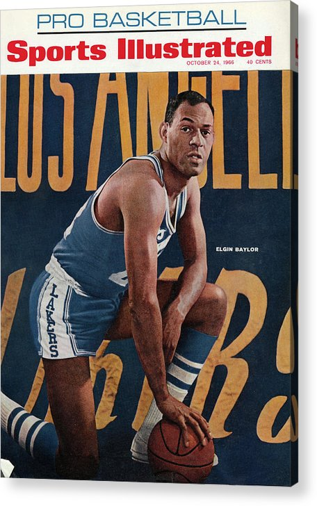 Magazine Cover Acrylic Print featuring the photograph Los Angeles Lakers Elgin Baylor Sports Illustrated Cover by Sports Illustrated