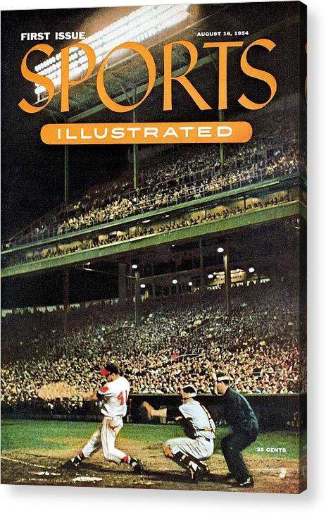 Magazine Cover Acrylic Print featuring the photograph Milwaukee Braves Eddie Mathews... Sports Illustrated Cover by Sports Illustrated