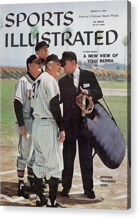 Magazine Cover Acrylic Print featuring the photograph New York Yankees Manager Casey Stengal And Milwaukee Braves Sports Illustrated Cover by Sports Illustrated