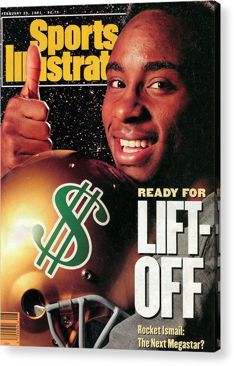 Magazine Cover Acrylic Print featuring the photograph Raghib Ismail, 1991 Nfl Football Draft Preview Sports Illustrated Cover by Sports Illustrated