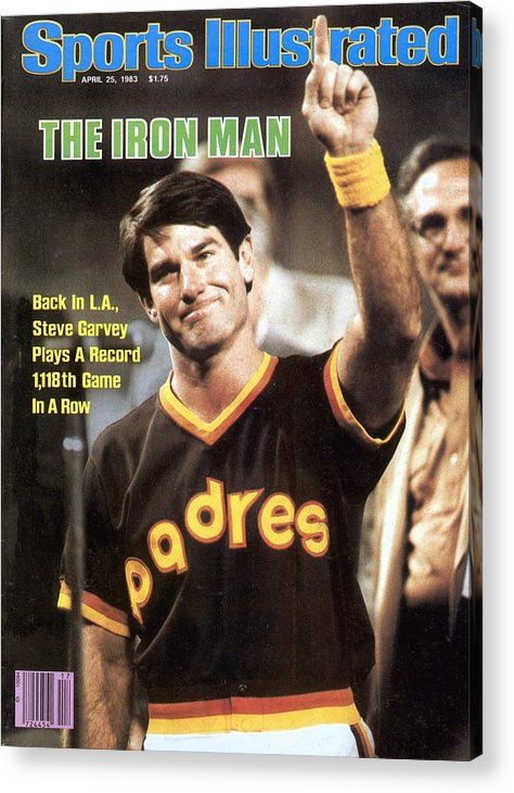 Magazine Cover Acrylic Print featuring the photograph San Diego Padres Steve Garvey Sports Illustrated Cover by Sports Illustrated