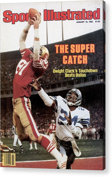 Candlestick Park Acrylic Print featuring the photograph San Francisco 49ers Dwight Clark, 1982 Nfc Championship by Sports Illustrated Cover