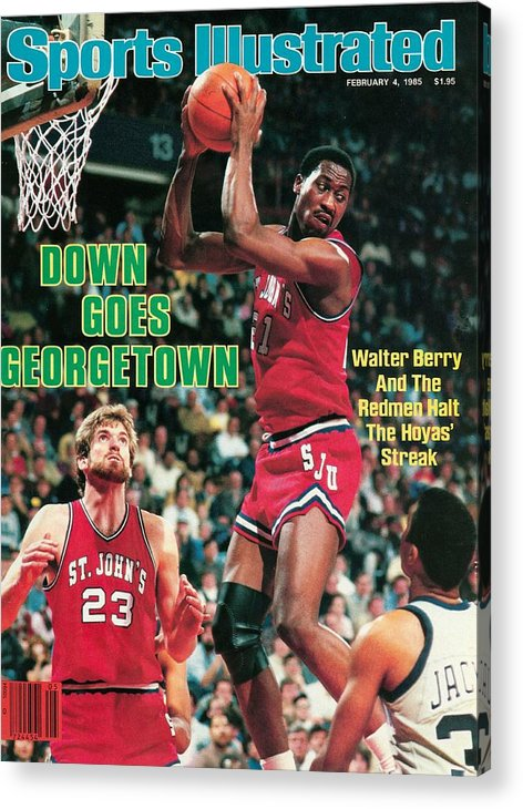 Magazine Cover Acrylic Print featuring the photograph St. Johns University Walter Berry Sports Illustrated Cover by Sports Illustrated