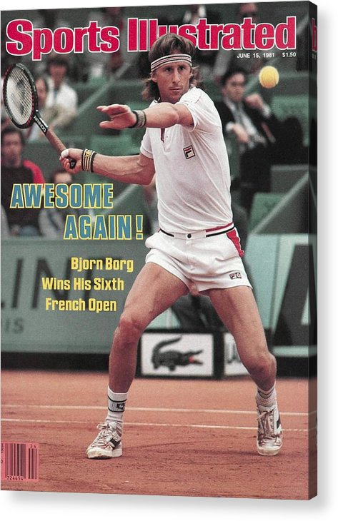 1980-1989 Acrylic Print featuring the photograph Sweden Bjorn Borg, 1981 French Open Sports Illustrated Cover by Sports Illustrated