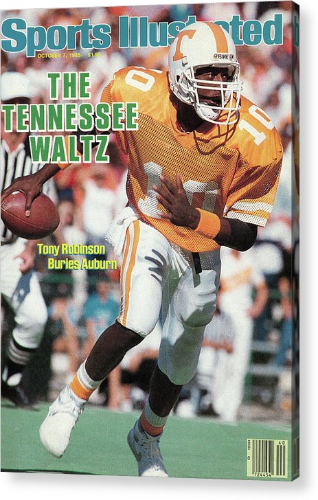 1980-1989 Acrylic Print featuring the photograph The Tennessee Waltz Tony Robinson Buries Auburn Sports Illustrated Cover by Sports Illustrated
