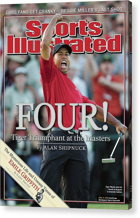 Magazine Cover Acrylic Print featuring the photograph Tiger Woods, 2005 Masters Sports Illustrated Cover by Sports Illustrated