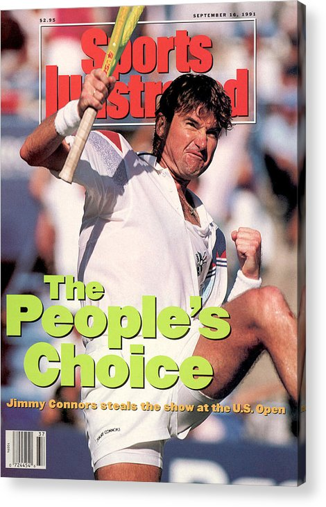 Tennis Acrylic Print featuring the photograph Usa Jimmy Connors, 1991 Us Open Sports Illustrated Cover by Sports Illustrated