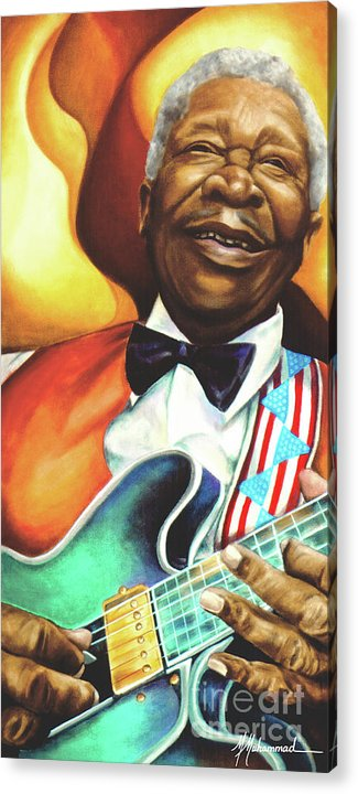 Musical Acrylic Print featuring the painting B. B. King by Marcella Muhammad