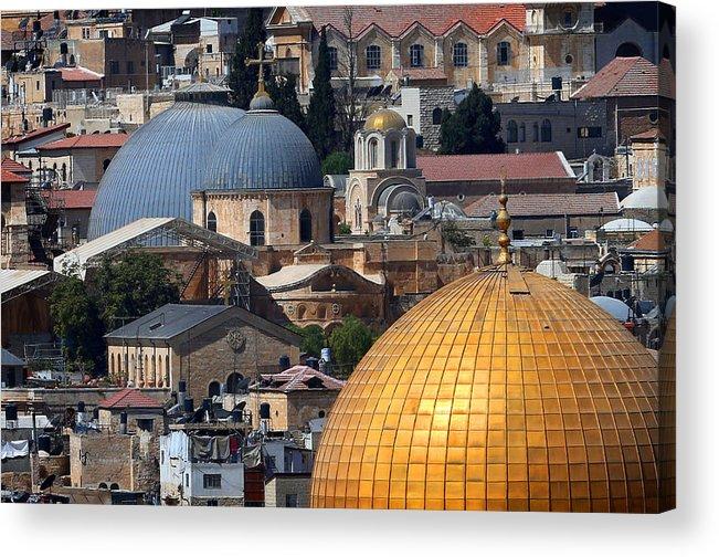 Old City Acrylic Print featuring the photograph 019 Jerusalem by Alex Kolomoisky