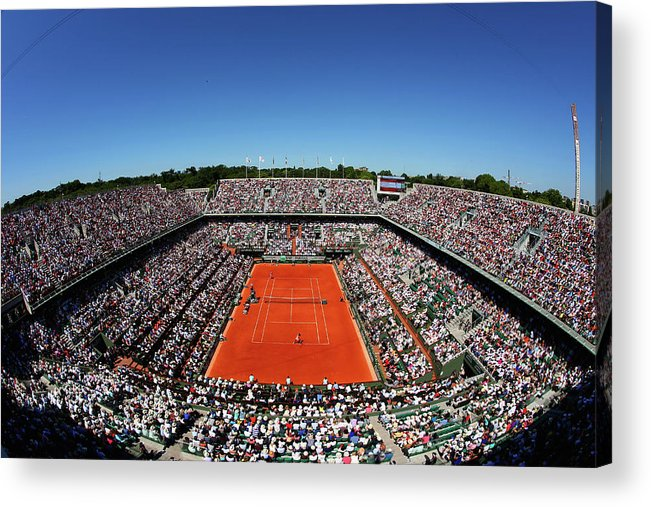 Tennis Acrylic Print featuring the photograph 2015 French Open - Day Fourteen by Clive Brunskill