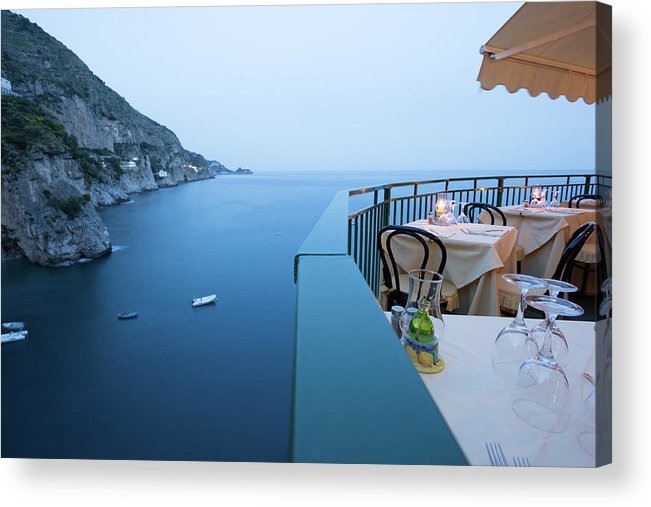 Tyrrhenian Sea Acrylic Print featuring the photograph Amalfi Coast In Campania, Italy by Davidcallan