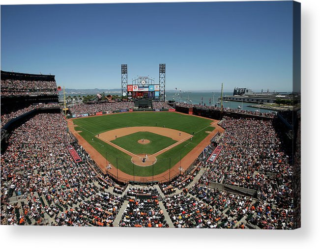 San Francisco Acrylic Print featuring the photograph Chicago Cubs V San Francisco Giants by Ezra Shaw