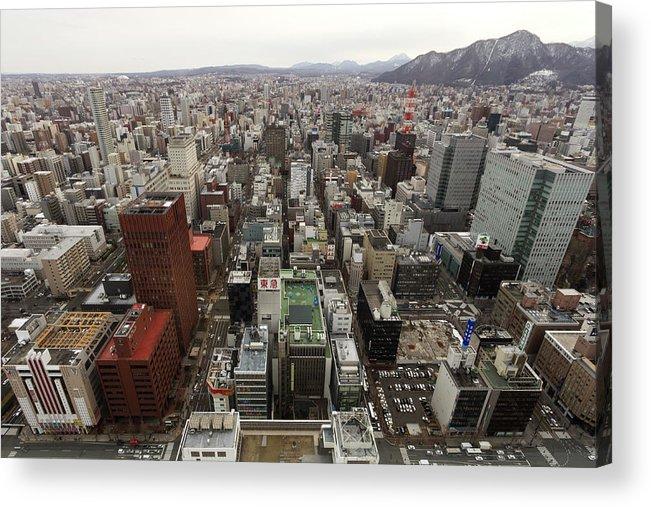 Hokkaido Acrylic Print featuring the photograph Cityscape Of Sapporo, Hokkaido, Japan by Tetsuya Aoki