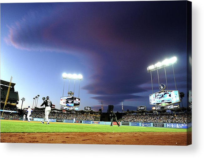 Ball Acrylic Print featuring the photograph Colorado Rockies V Los Angeles Dodgers by Harry How